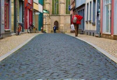 Erfurt Centro Historico Callejón Alemania