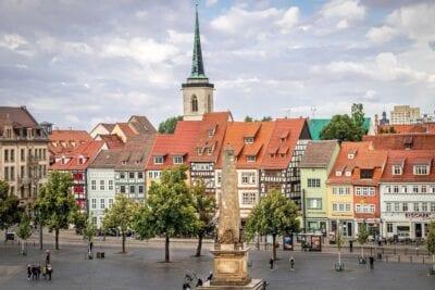 Erfurt De La Ciudad Paisaje Alemania