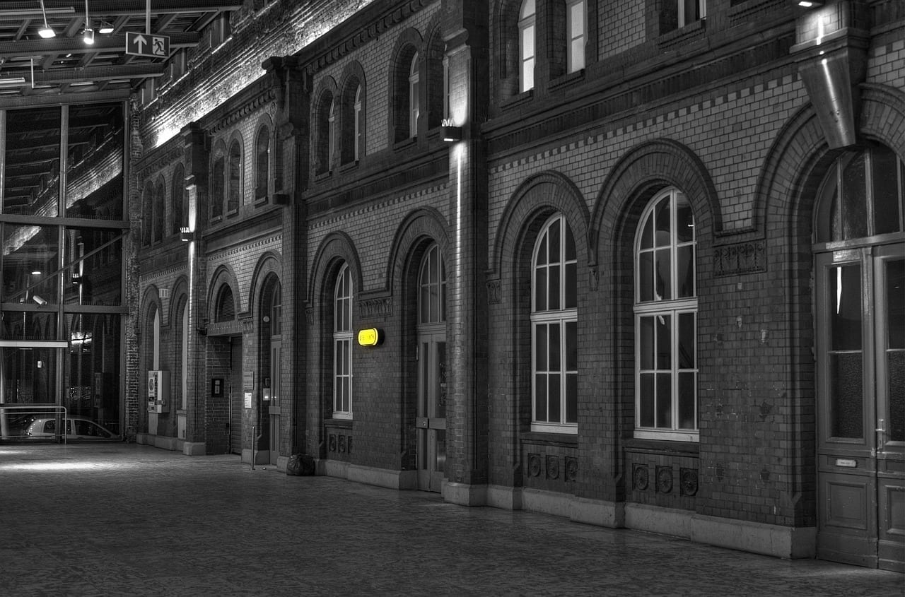 Estación De Ferrocarril Kassel Colourkey Alemania