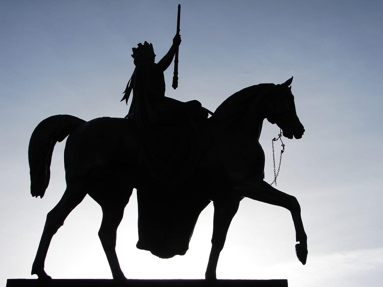 Estatua Reina Victoria Glasgow Reino Unido