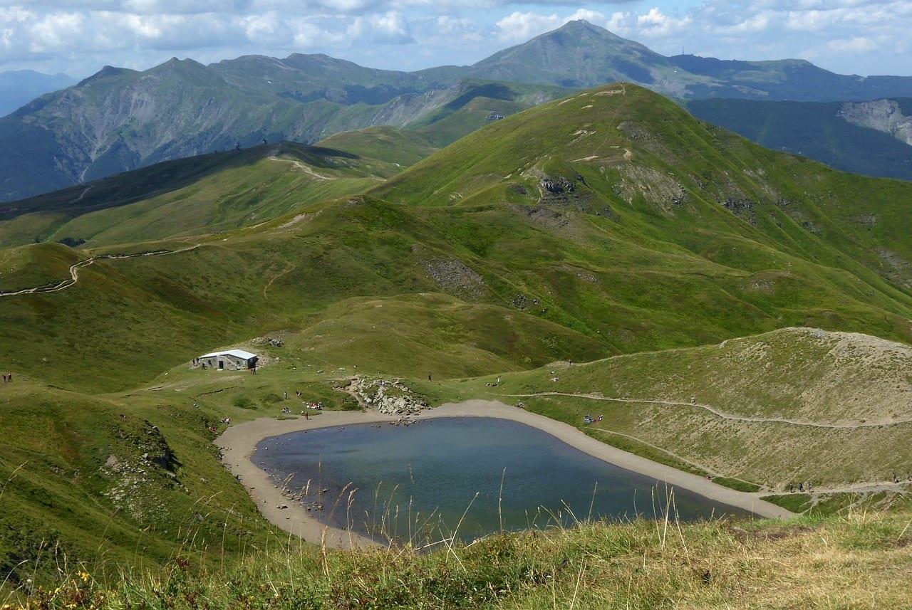 Fanano Módena Lago Scaffaiolo El Parque Regional De Corno Alle Scale Italia