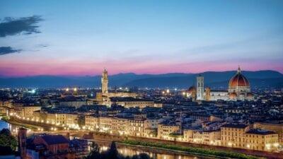 Florencia Horizonte Puesta De Sol Italia