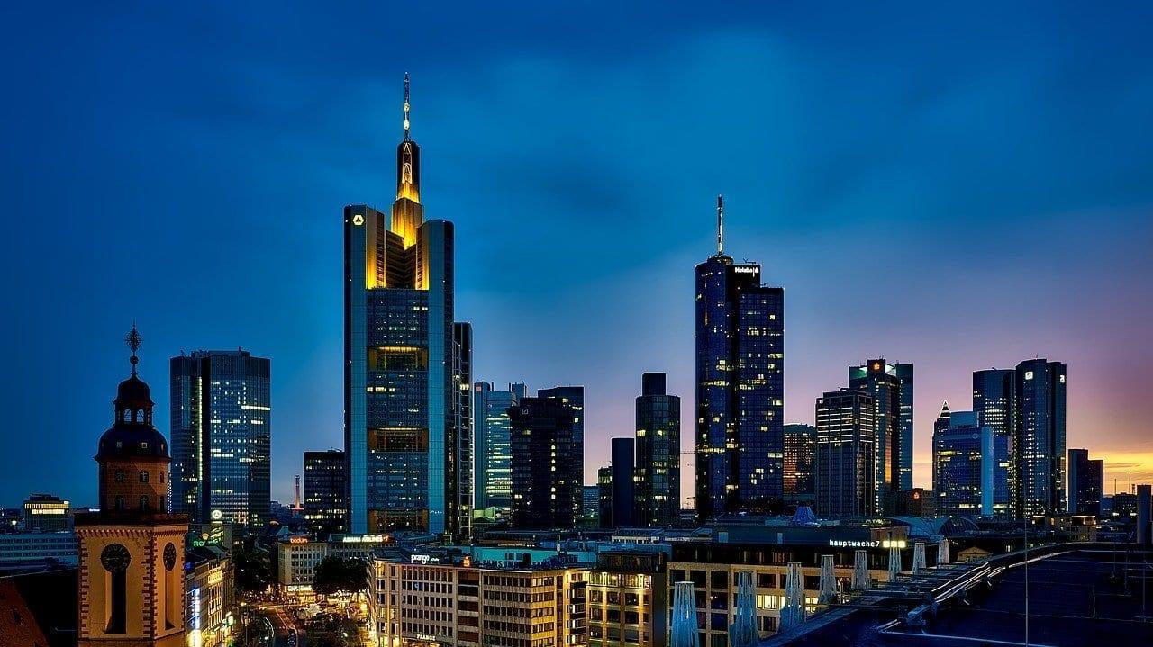 Frankfurt Alemania Panorama Alemania