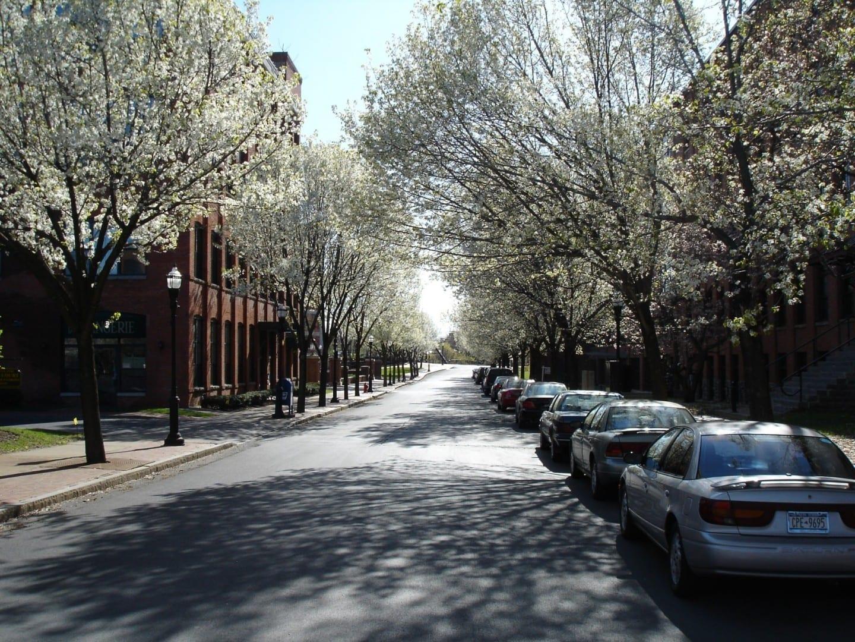 Franklin Square en abril Syracuse NY Estados Unidos
