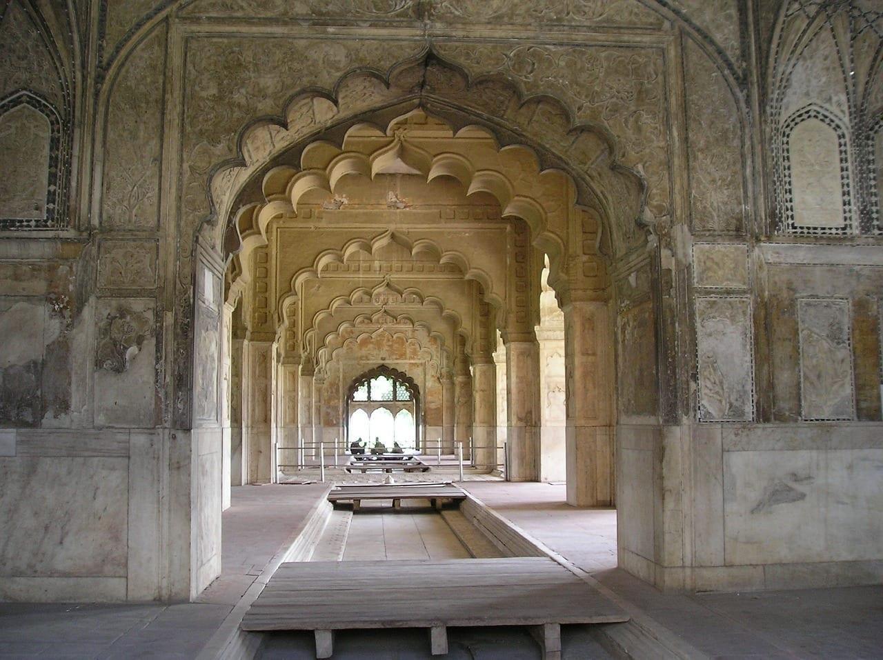 Fuerte Rojo De Delhi Edificios Antigua India