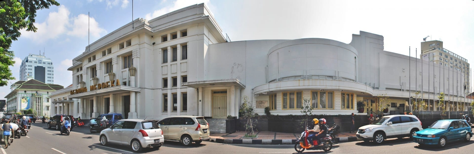 Gedung Merdeka en Central Bandung. Bandung Indonesia