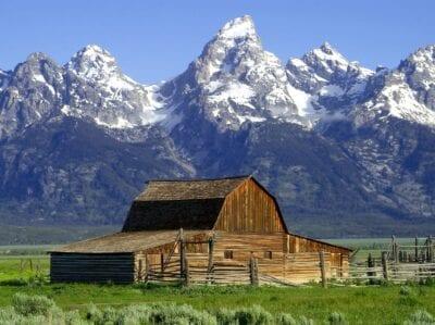 Granero mormón, Parque Nacional del Gran Teton Grand Teton WY Estados Unidos