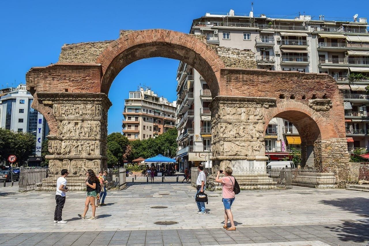 Grecia Thessaloniki Arco De Galerius Grecia