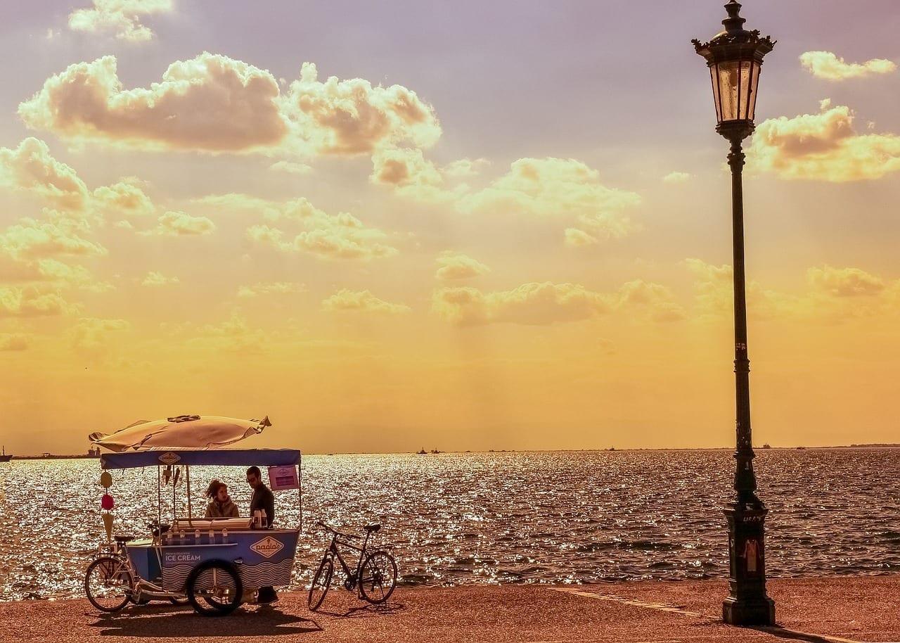 Grecia Thessaloniki Puesta De Sol Grecia