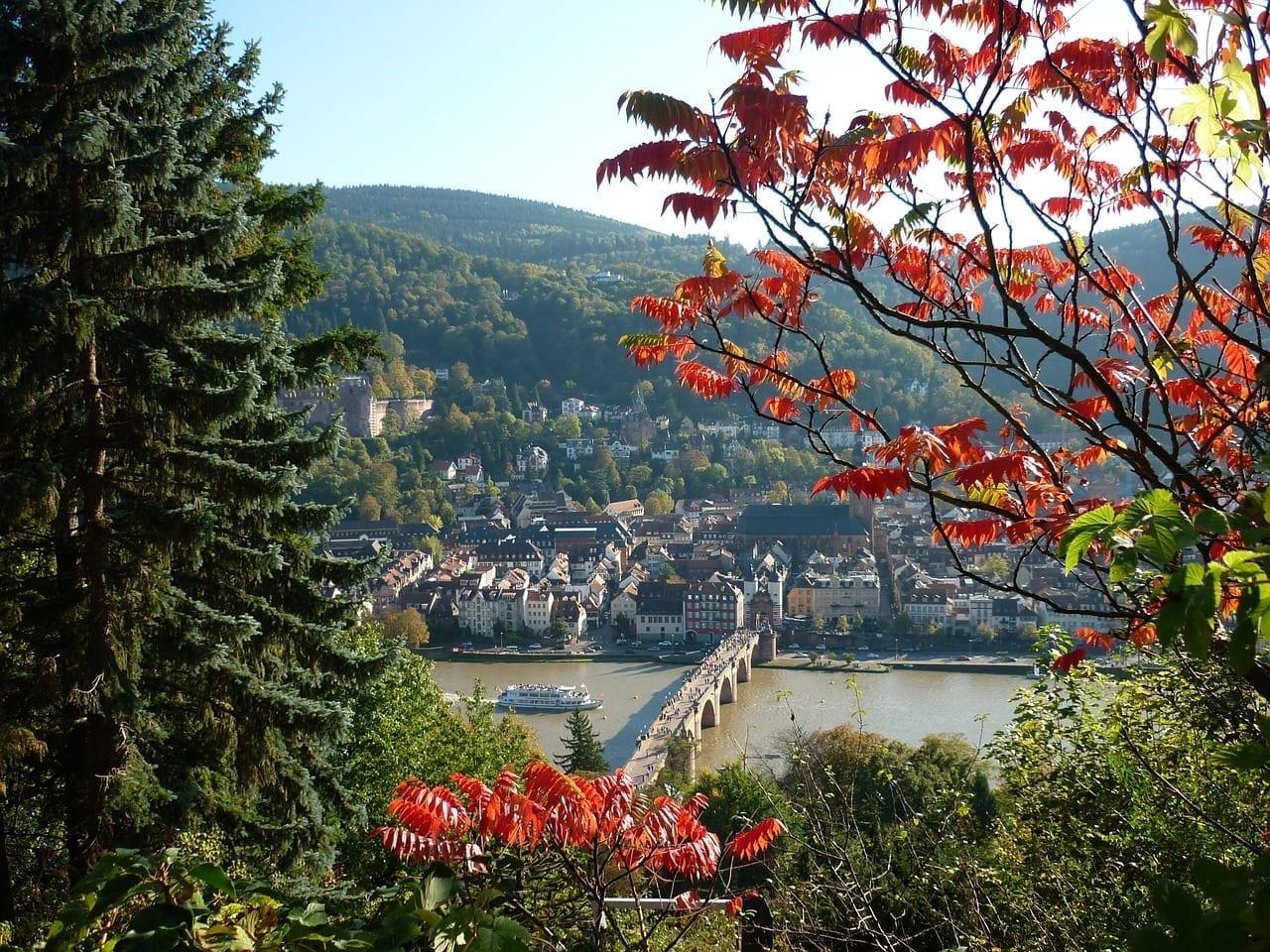 Heidelberg Punto De Vista Paisaje Alemania