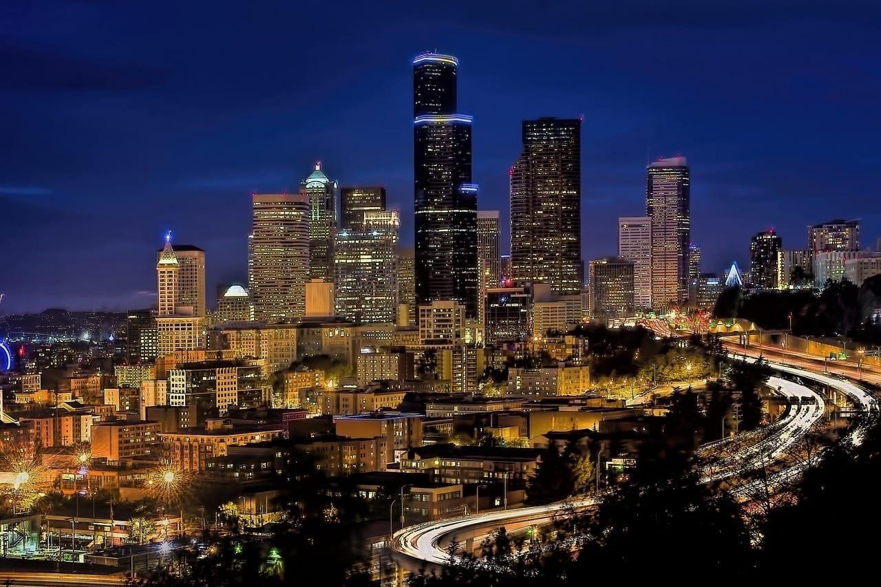 Horizonte Centro De La Ciudad Seattle Estados Unidos