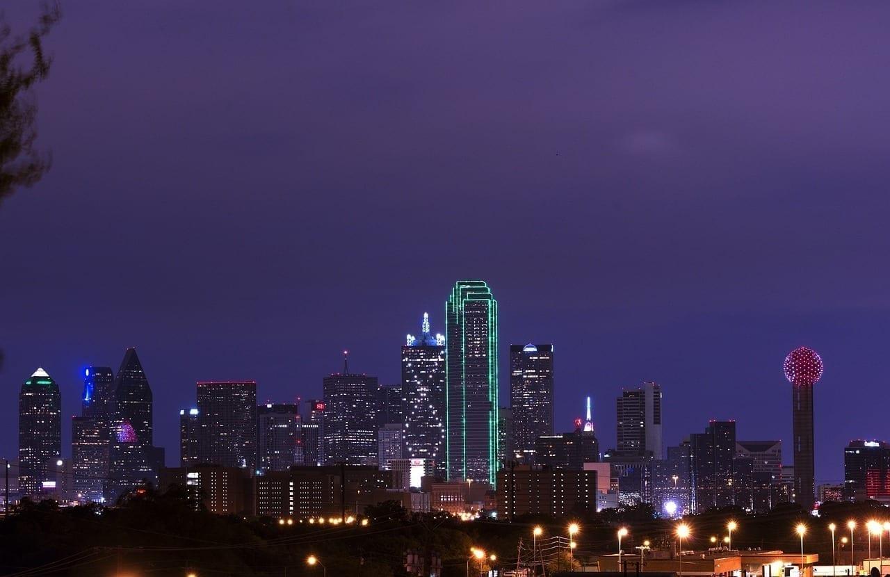 Horizonte Dallas Anochecer Estados Unidos