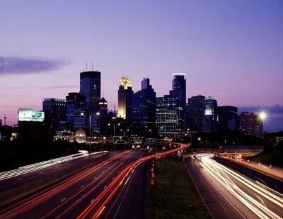 Horizonte De La Ciudad Minneapolis Centro De La Ciudad Estados Unidos