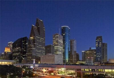 Horizonte Houston Anochecer Estados Unidos
