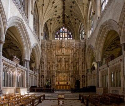Interior de la Catedral de Winchester Winchester Reino Unido