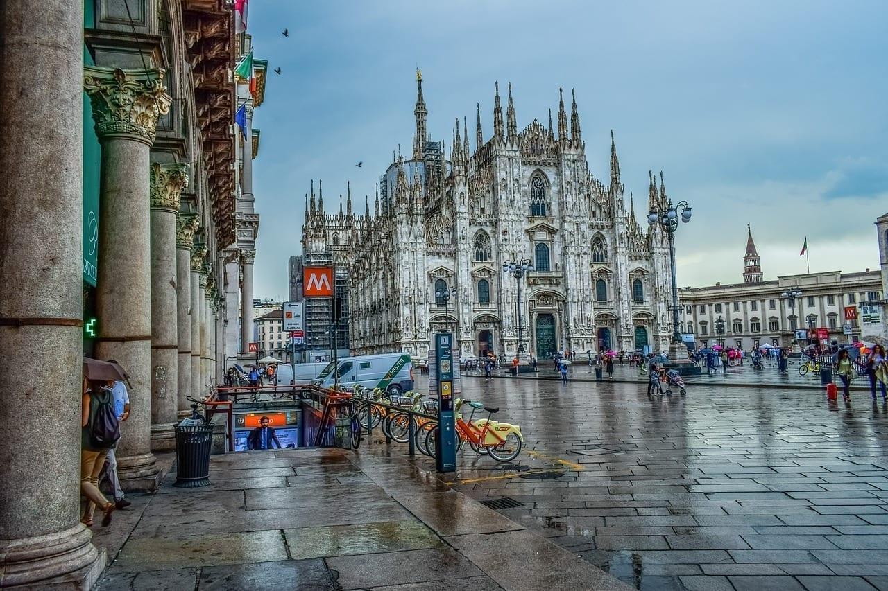 Italia Milano Plaza Del Duomo Italia