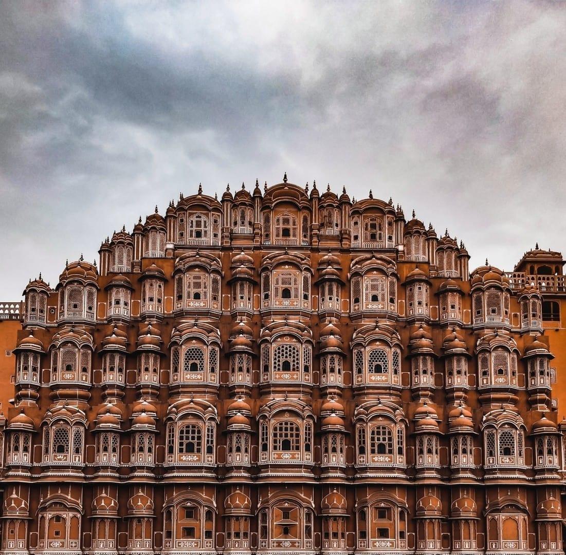 Jaipur India Puesta De Sol India