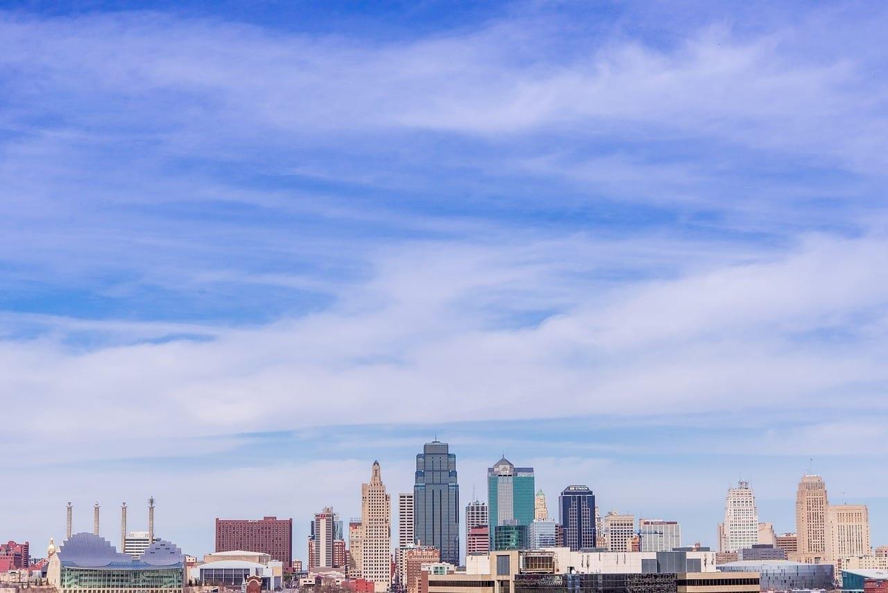 Kansas City Centro De La Ciudad Horizonte Estados Unidos