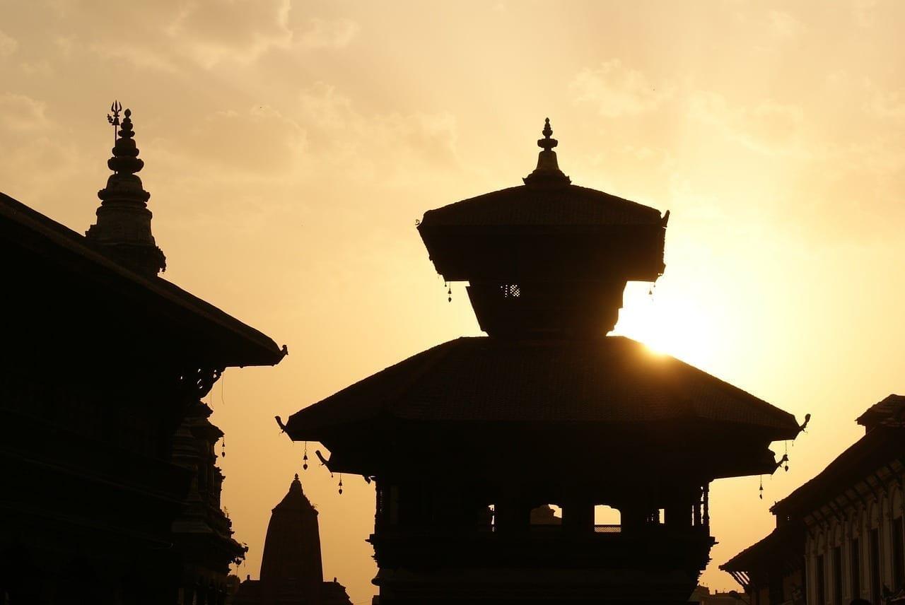 Katmandú Nepal Por La Noche Nepal
