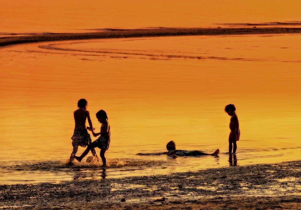 Koh Samui Los Niños Jugar Tailandia