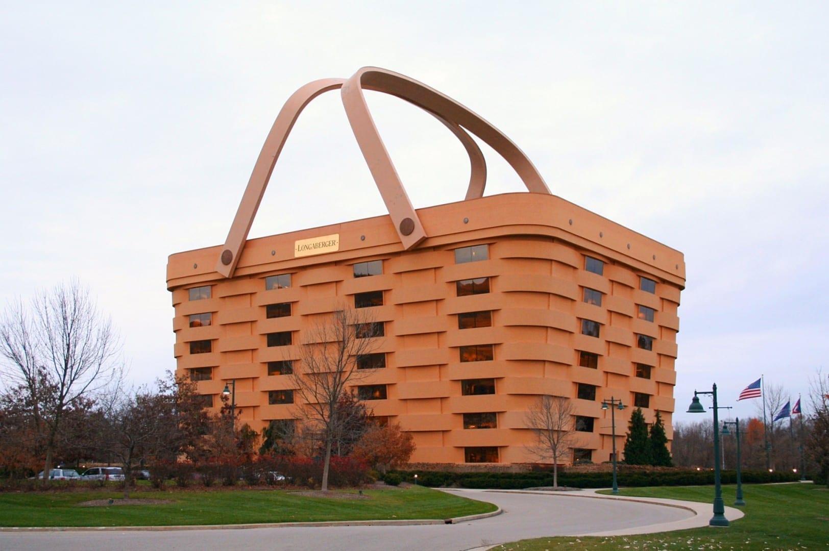 La antigua sede de Longaberger Basket en Newark Columbus OH Estados Unidos