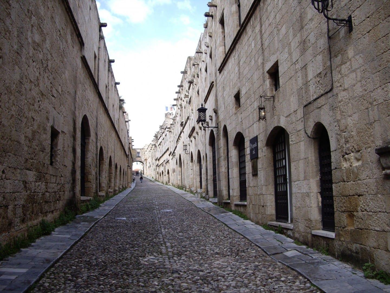 La Avenida de los Caballeros en la Ciudad Vieja de Rodas Rodas Grecia