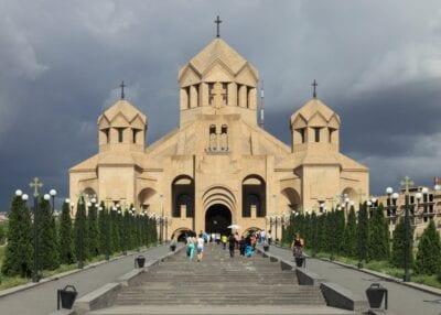 La catedral de San Gregorio el Iluminador Ereván Armenia