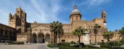 La catedral, en estilo árabe-normando Palermo, Sicilia Italia