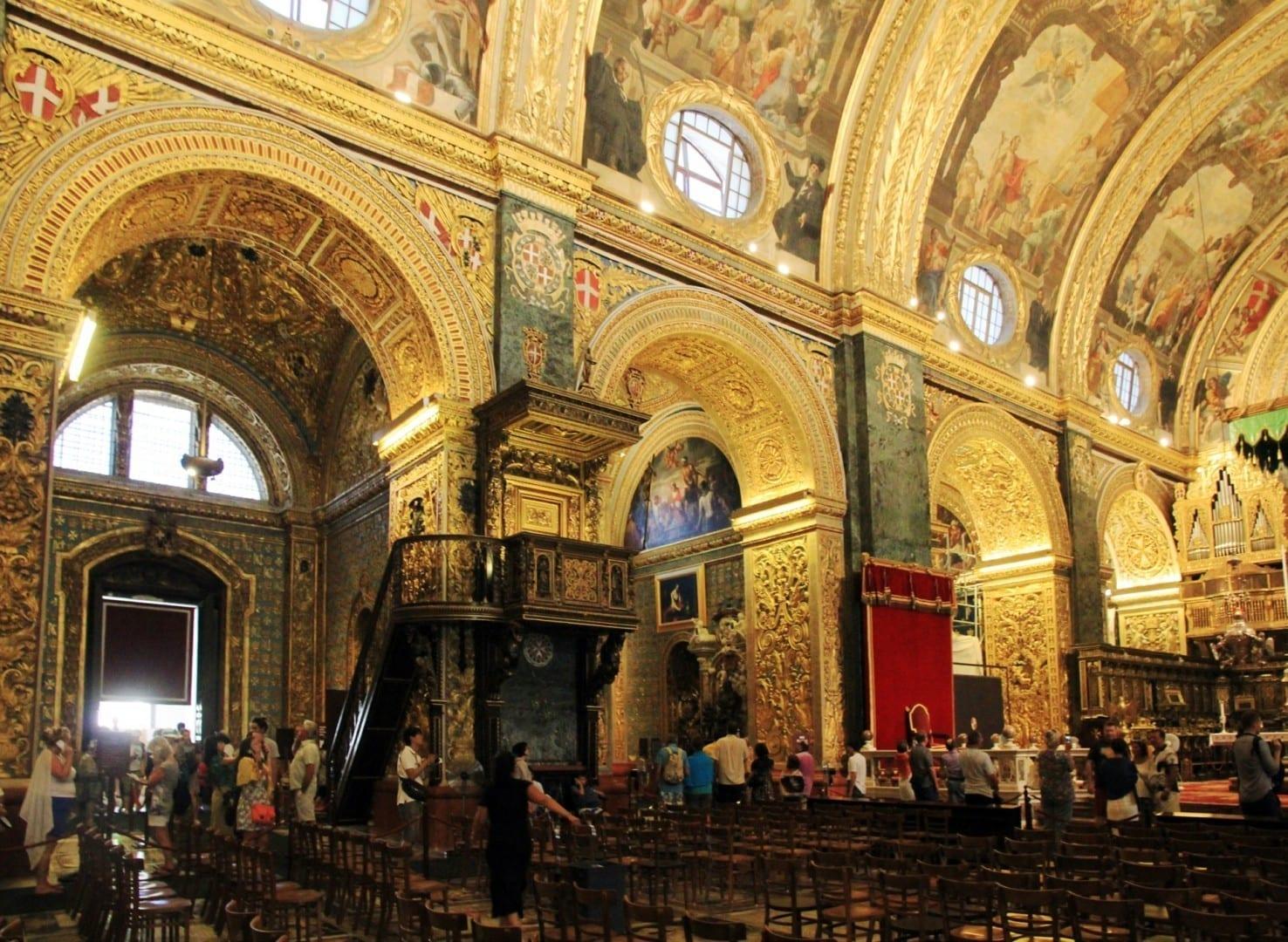 La co-catedral de San Juan Valletta Malta