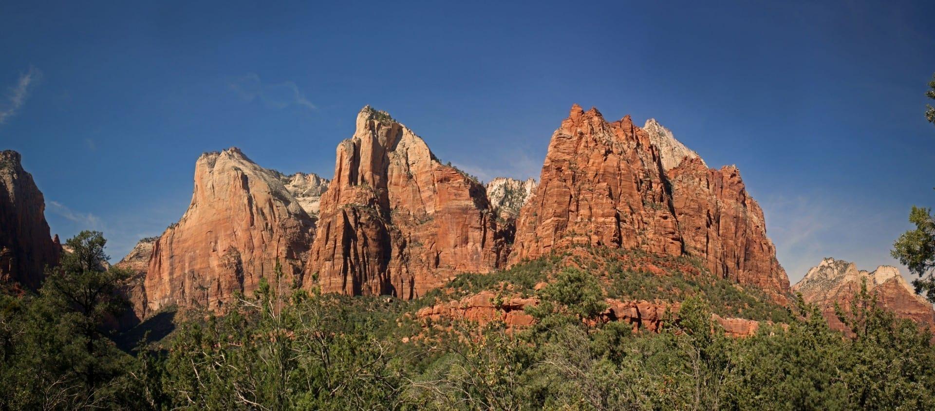 La Corte de los Patriarcas Zion Parque Nacional UT Estados Unidos