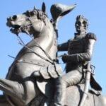 La estatua de Andrew Jackson, cerca de Jacksonville Landing Jacksonville (Florida) Estados Unidos