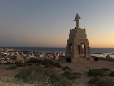 La estatua de San Cristóbal Almería España