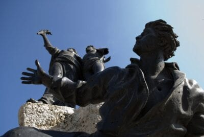 La estatua del mártir en la Plaza del Mártir Beirut Líbano