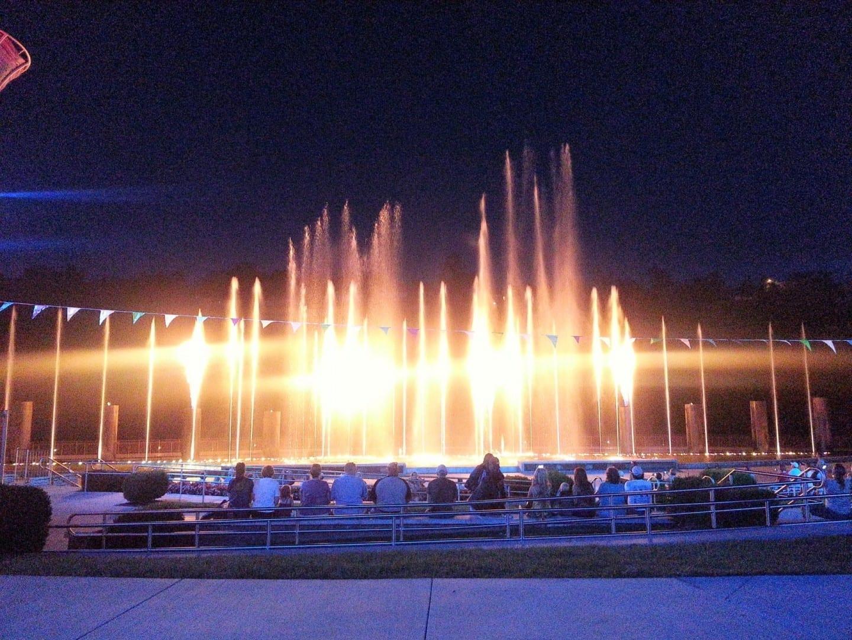 La exposición de agua del centro comercial Branson Branson Estados Unidos
