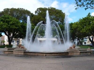 La fuente de los Leones en la Plaza Las Delicias Ponce Puerto Rico