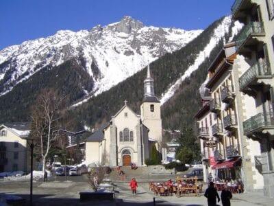 La iglesia de Chamonix Chamonix Francia