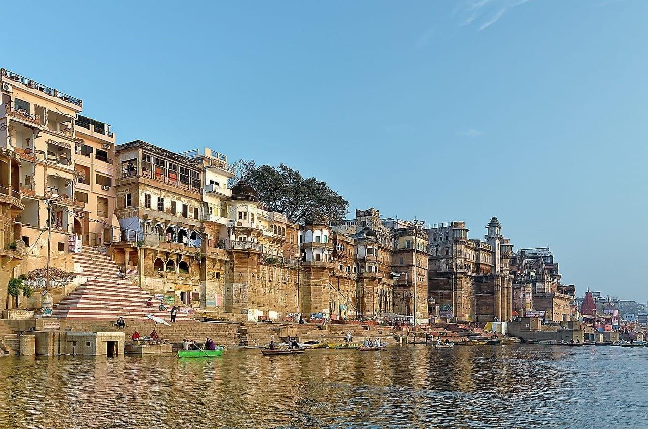 La India Varanasi Ghat India