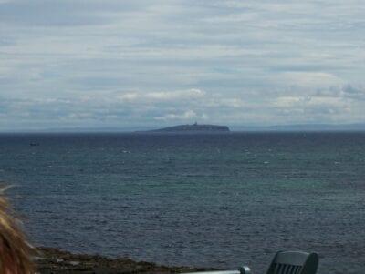 La Isla de Mayo desde Crail Saint Andrews Reino Unido
