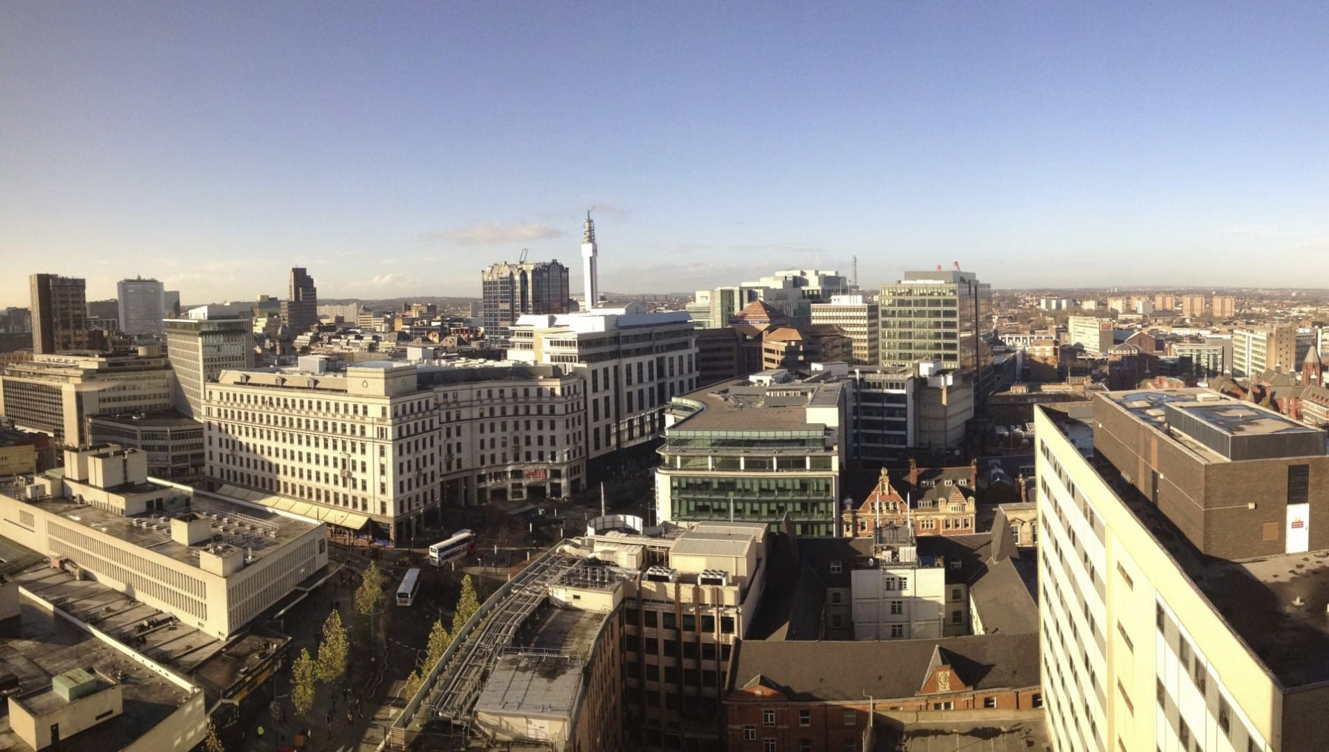 La parte norte del centro de la ciudad de Birmingham Birmingham Reino Unido