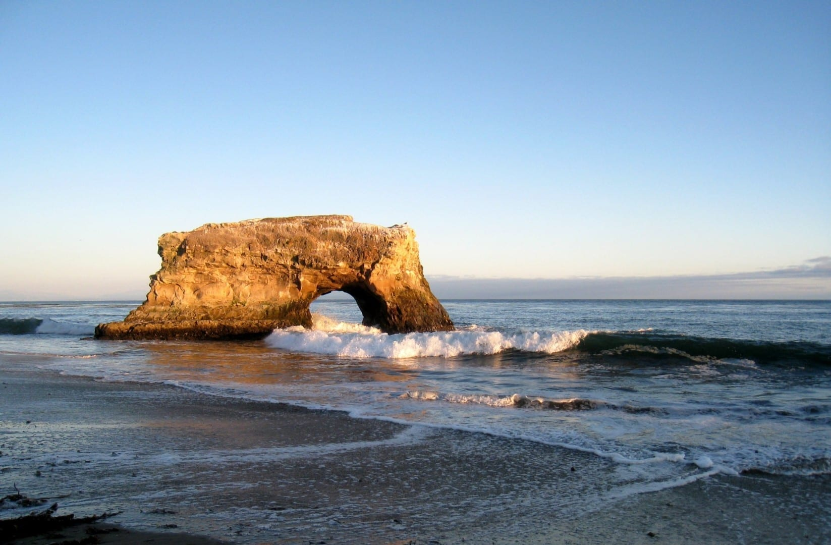 La playa estatal de Natural Bridges Santa Cruz CA Estados Unidos