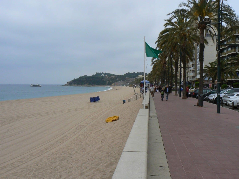 La playa y el paseo marítimo de Lloret Lloret de Mar España