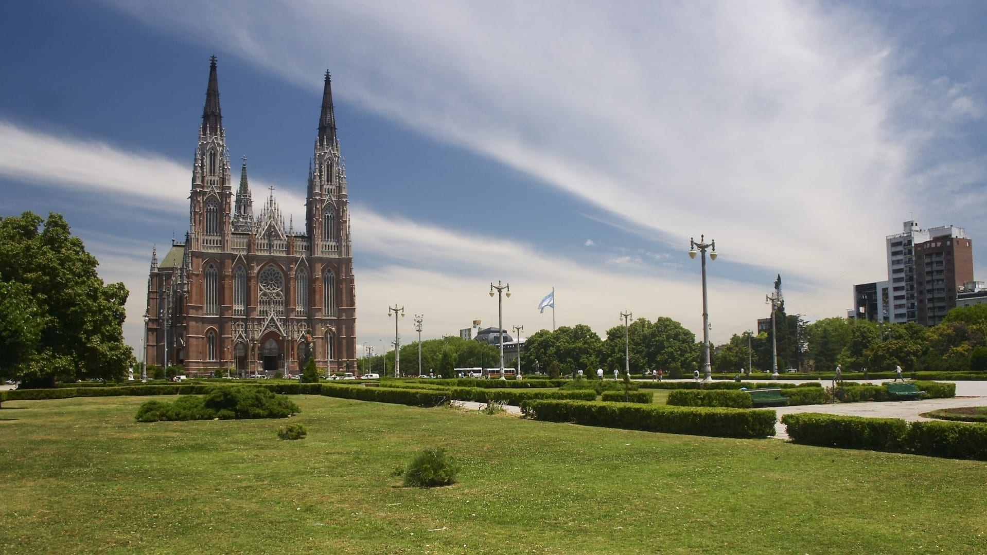 La Plaza Moreno y la Catedral La Plata Argentina