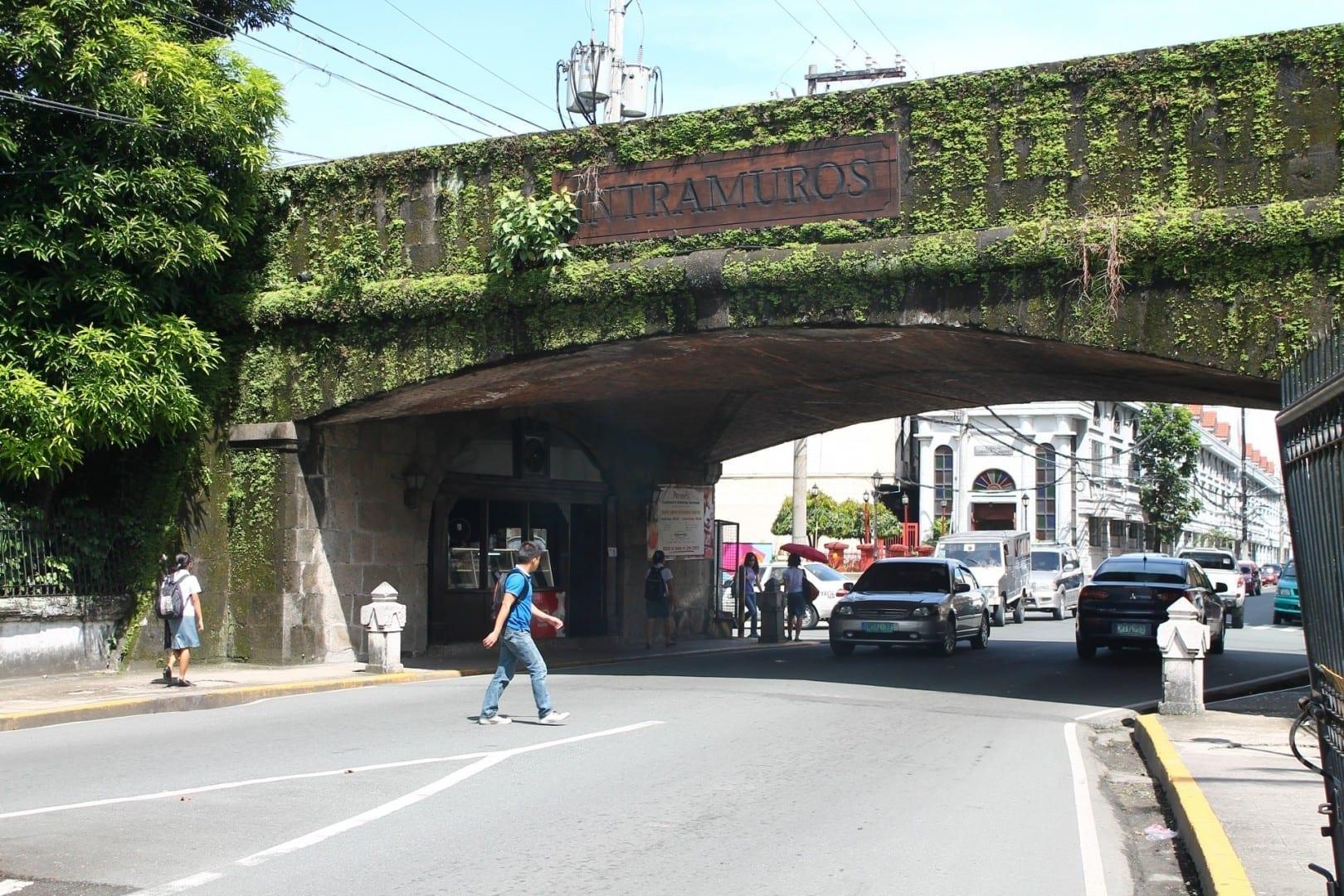 La puerta de Intramuros Intramuros (Manila) Filipinas