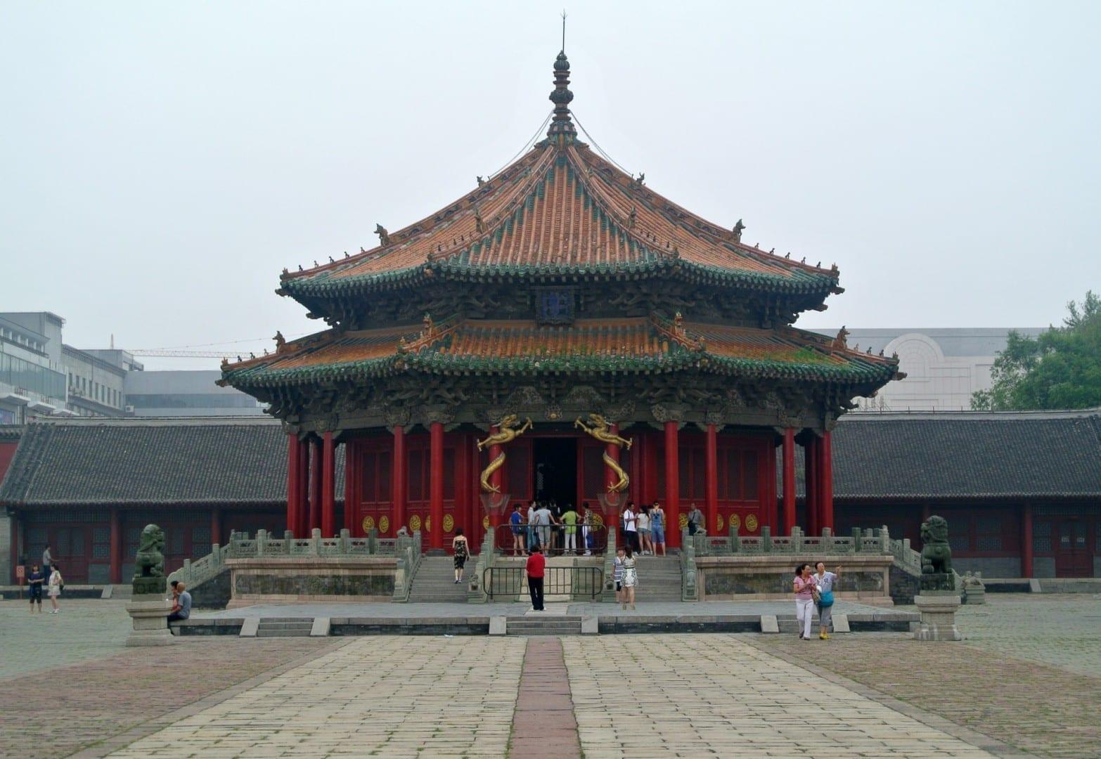 La Sala Dazheng, el edificio más antiguo del Palacio Mukden Shenyang China