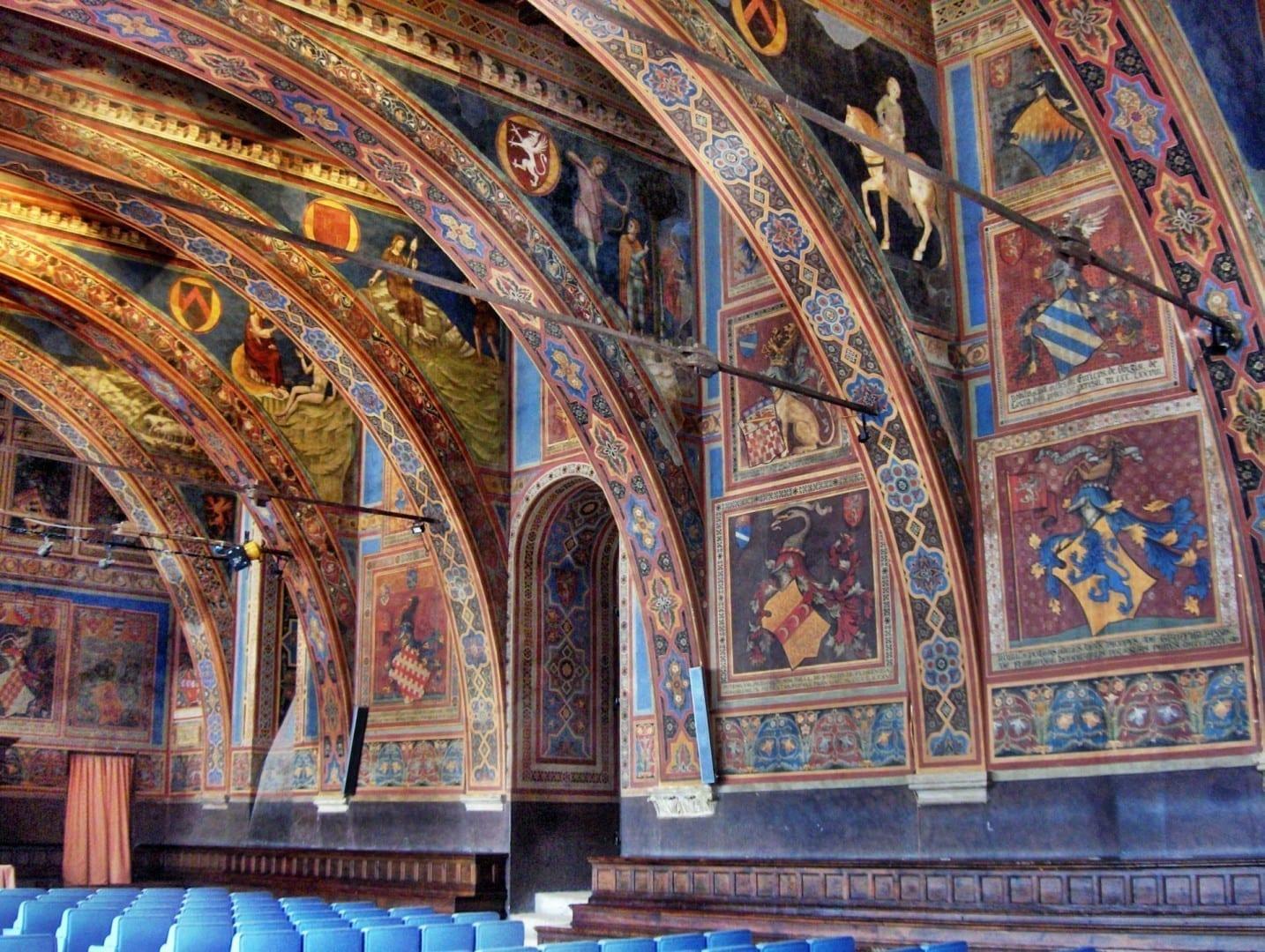 La Sala de los Notarios en el Palacio de los Priores Perugia Italia