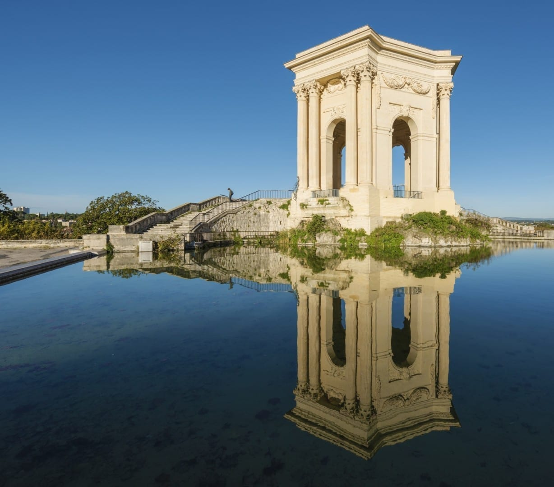 La Torre del Agua de Peyrou, construida en 1689 Montpellier Francia