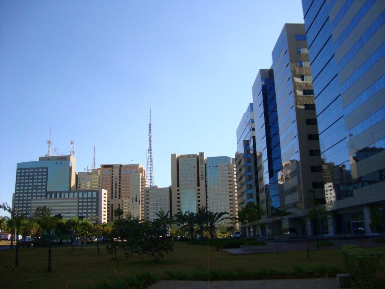 La zona comercial de Brasilia Brasilia Brasil