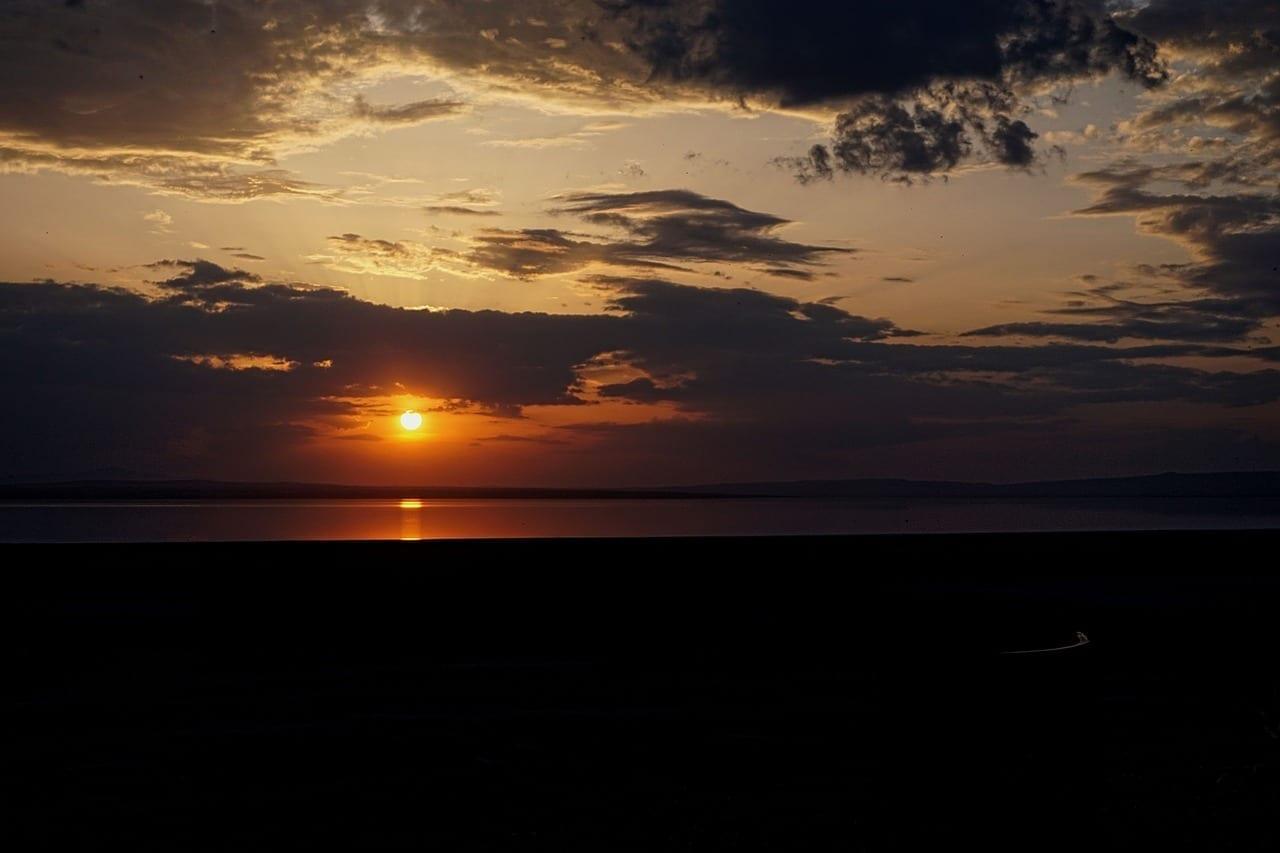 Lago Salado Lago Ankara Turquía
