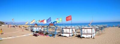 Las playas son la principal vista en Torremolinos Torremolinos España