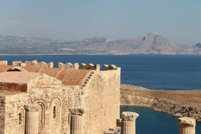 Lindos Acrópolis Rhodes Grecia